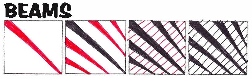 My tangle patterns:Beams – Life Imitates Doodles