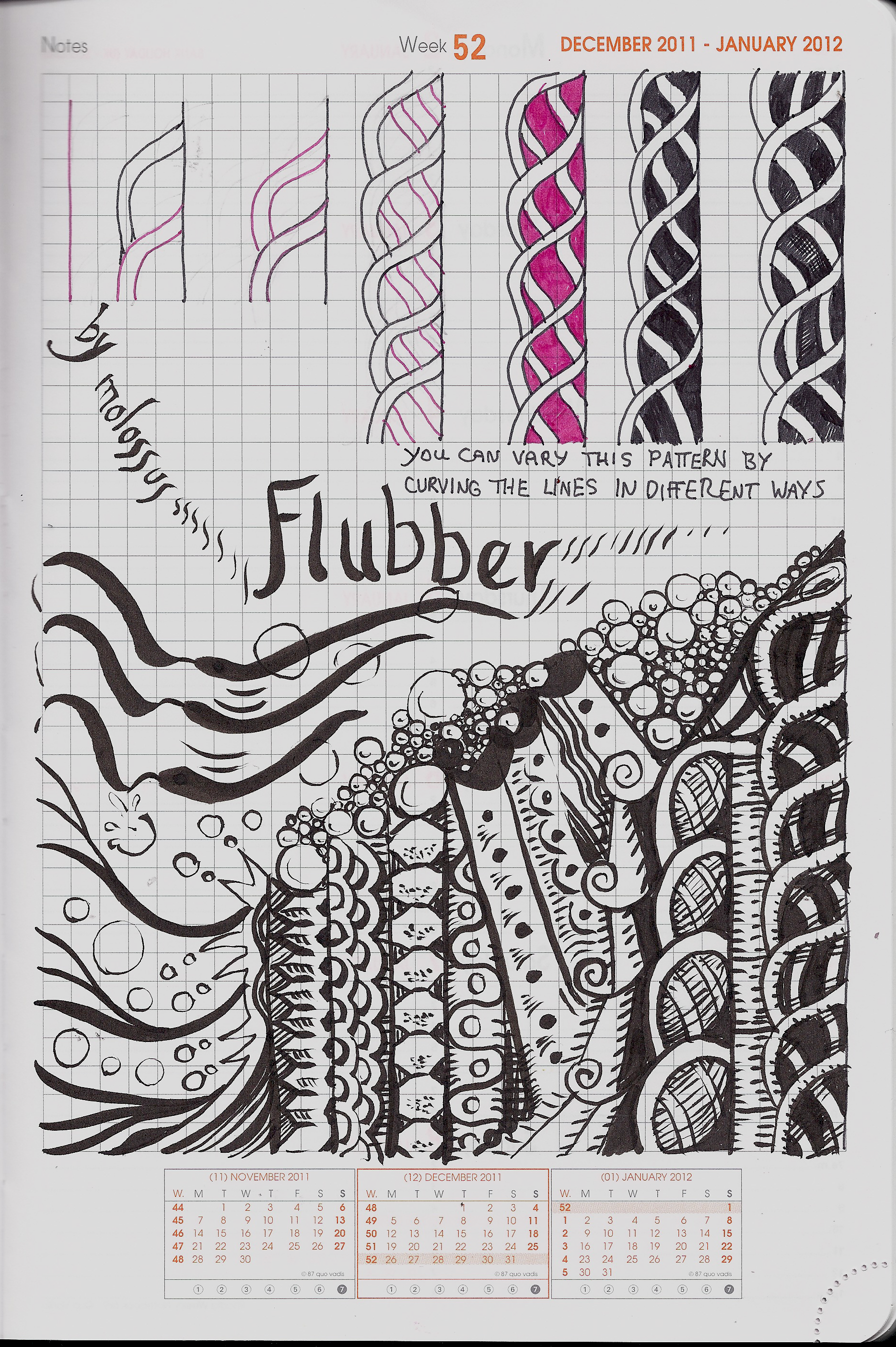 My Tangle Pattern Flubber Zentangle Life Imitates Doodles