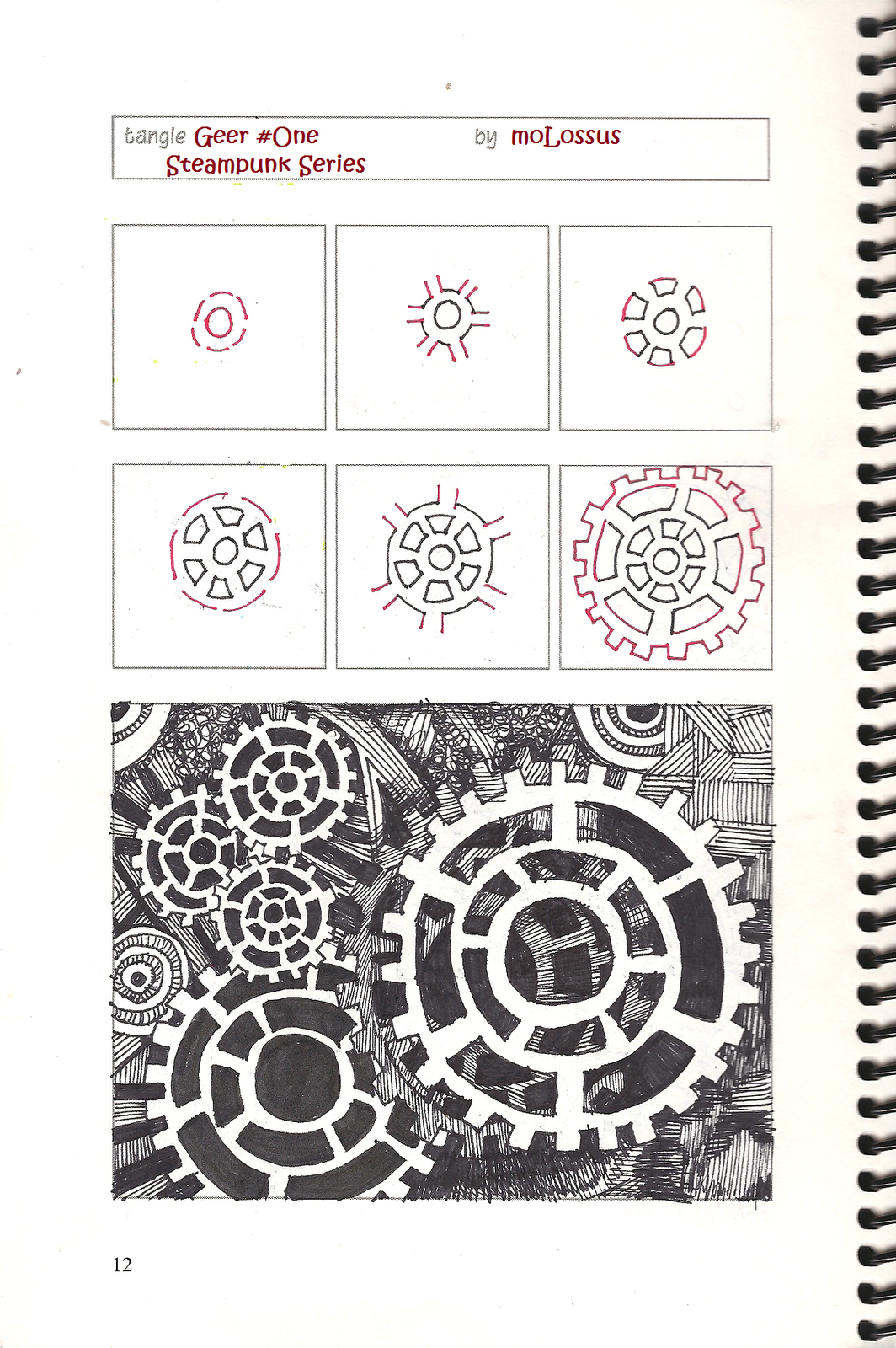 Zentangles Patterns Step By Step New Tangle Pattern Gee...
