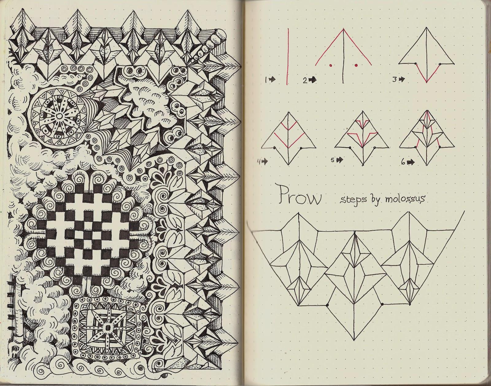 New Pattern Prow Rhodia Journal Swap Zentangle