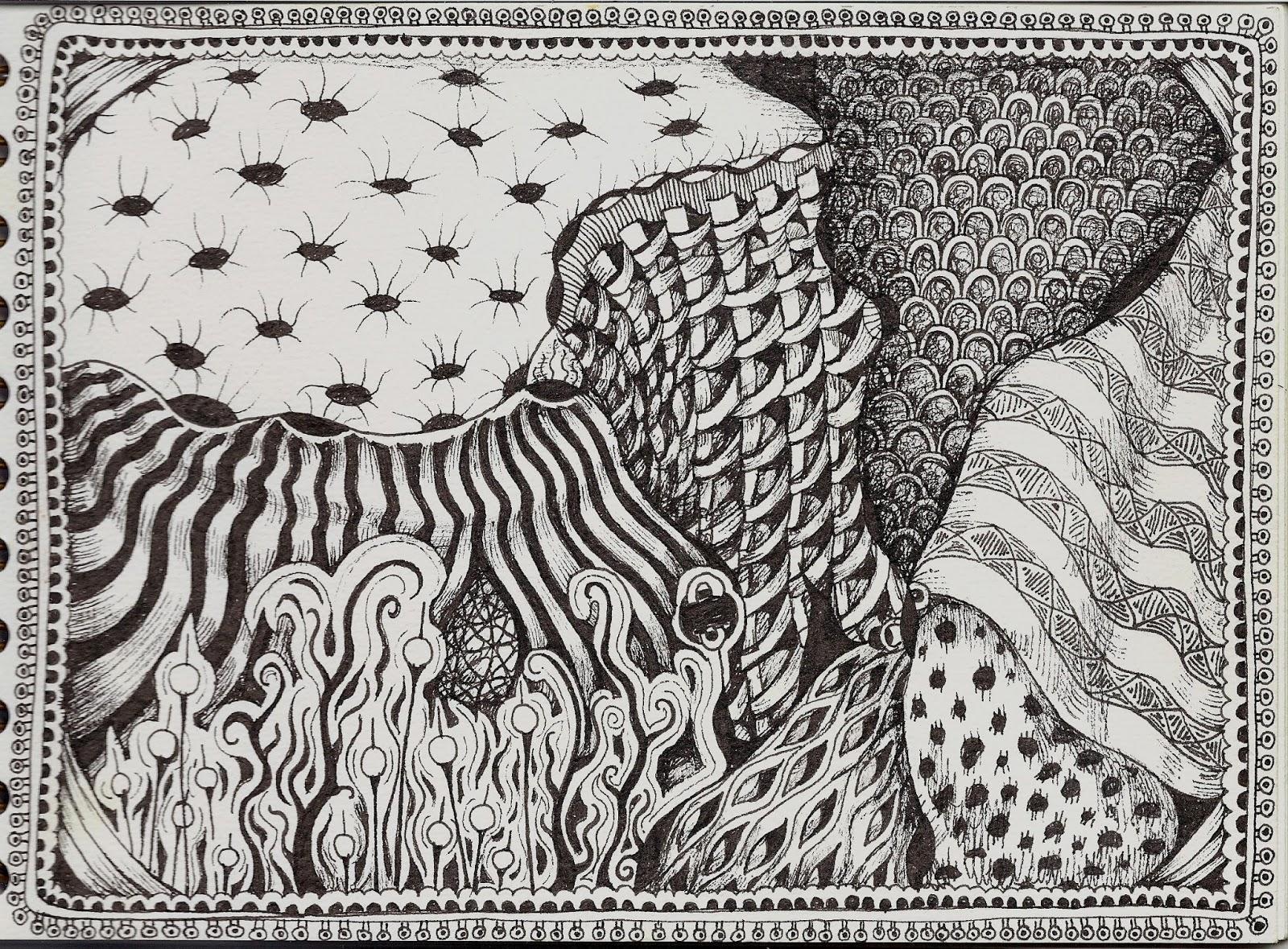 Scribble Line Drawing : Drawing pens life imitates doodles