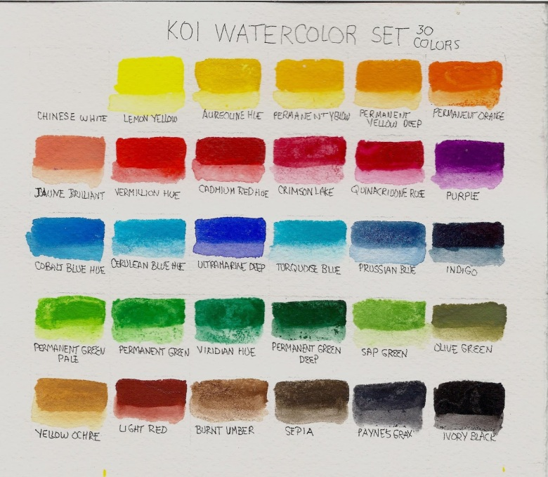30-color koi watercolor pocket field sketch box review