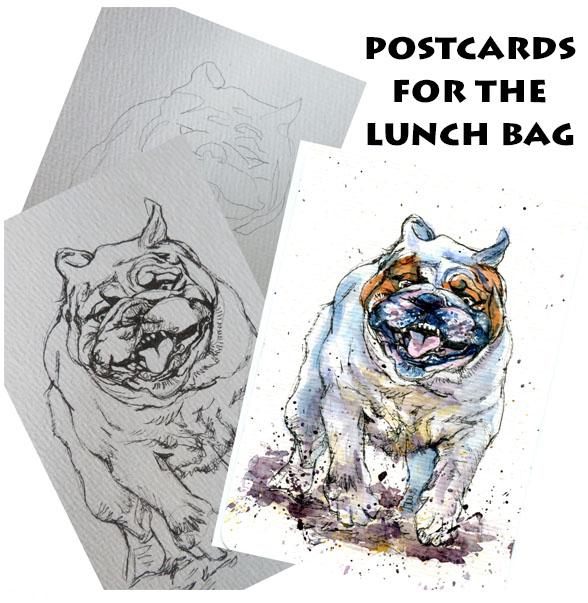 Bulldog from Pencil toPainting