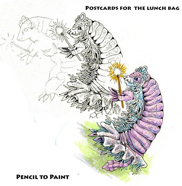 Pink Fairy Armadillo: Pencil to Paintmini-tutorial