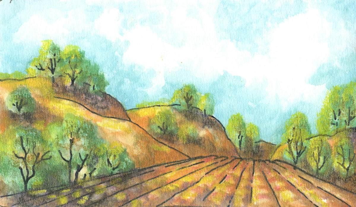 Desert Highway in WatercolorCreams