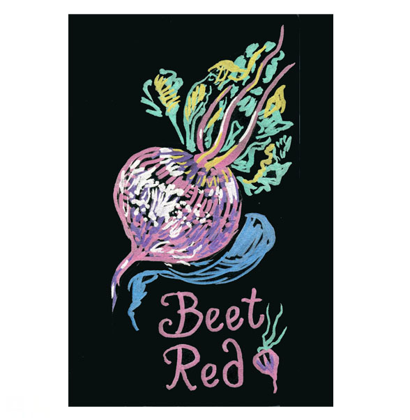 Metallic Beet Red