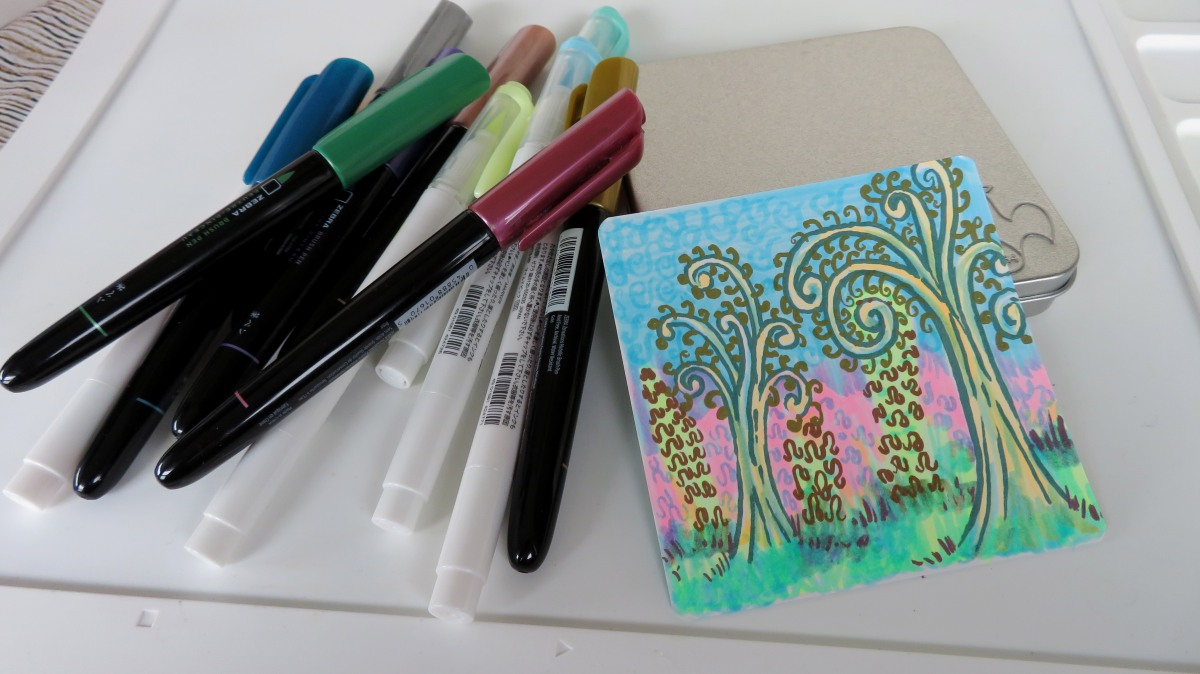Swirly Tree & Squiggle Bush Fun & Easy Step-outs