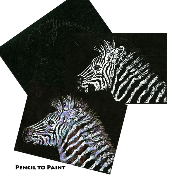 Tutorial – How to Draw a Zebra on BlackPaper