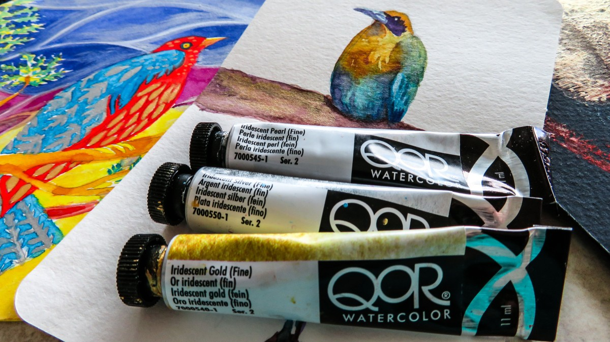 Tutorial-How to Paint with QoR Iridescent Watercolor