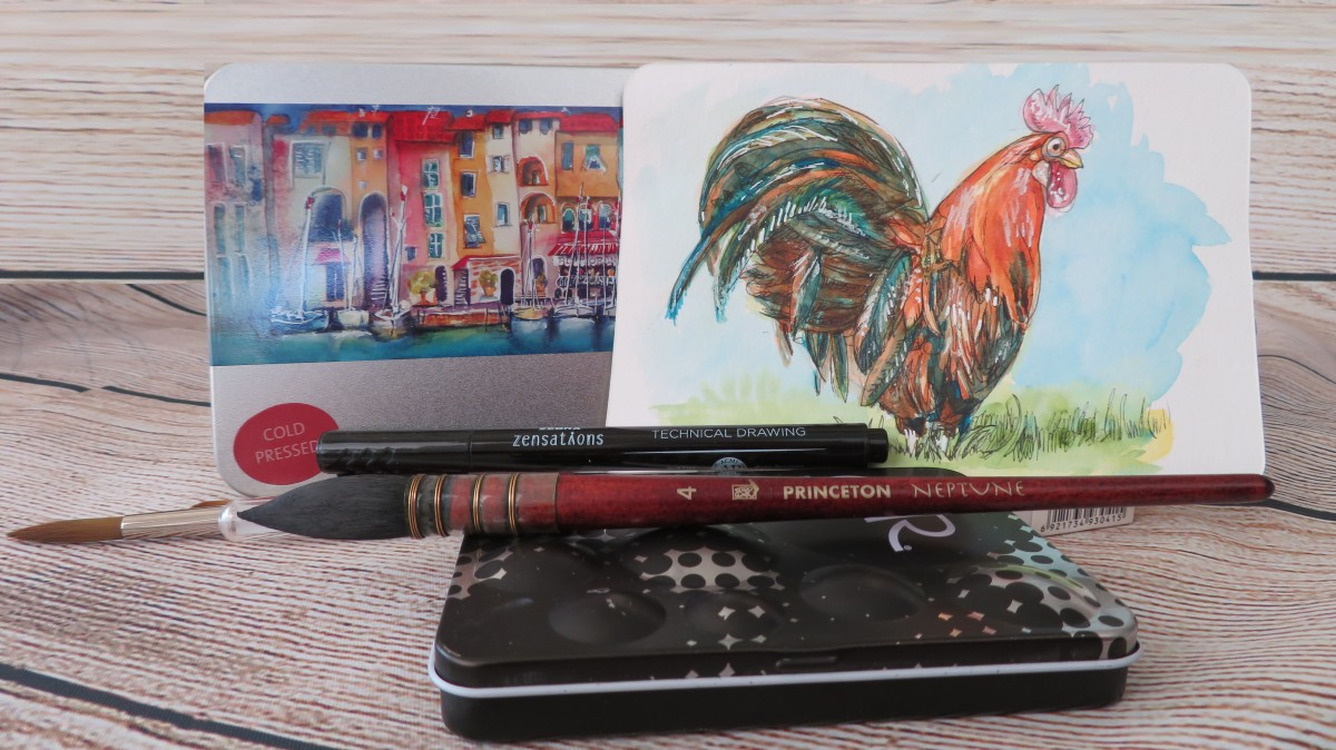Tutorial – How to Draw and Paint a Rooster