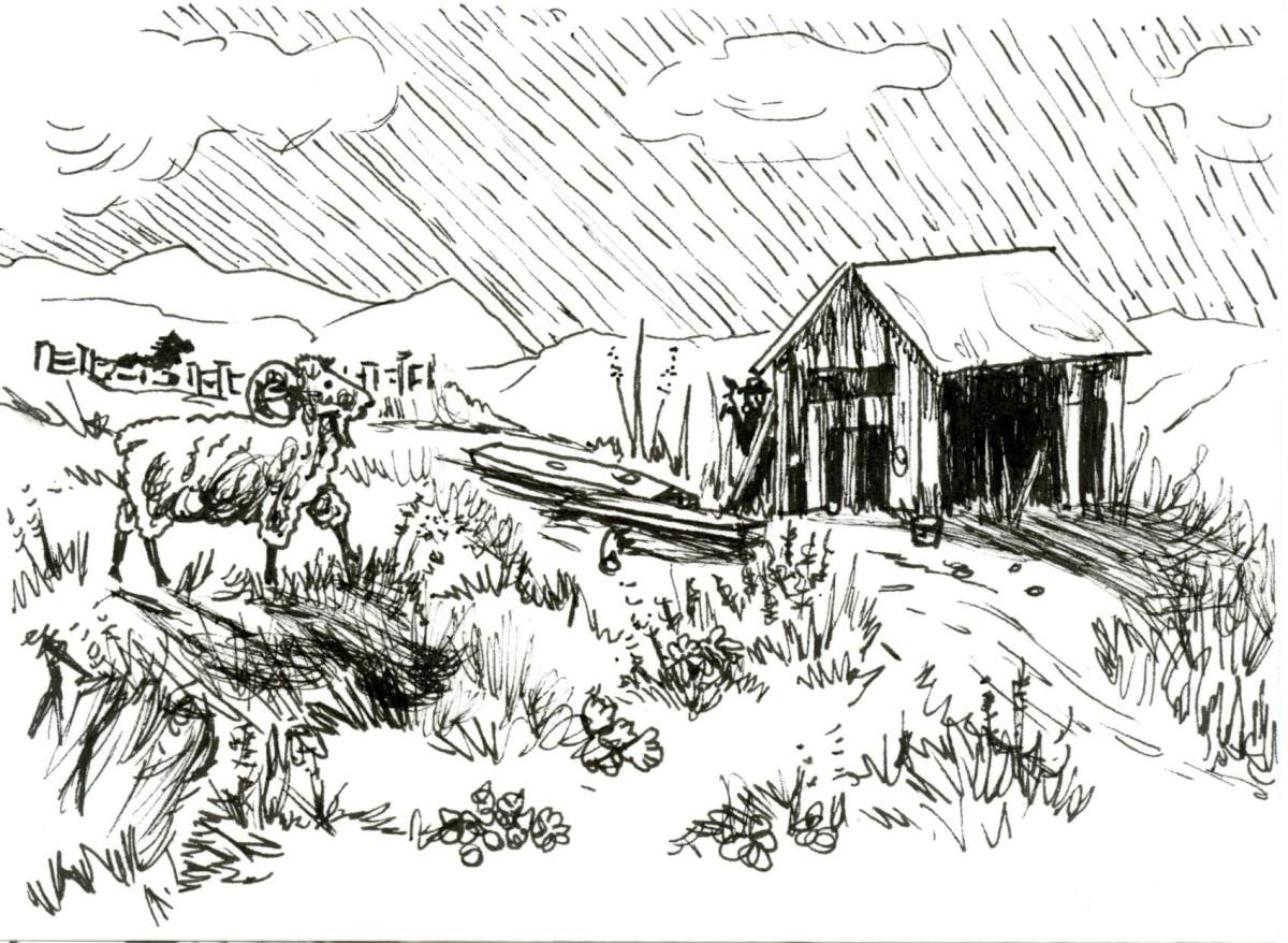 Build Barn for Inktober
