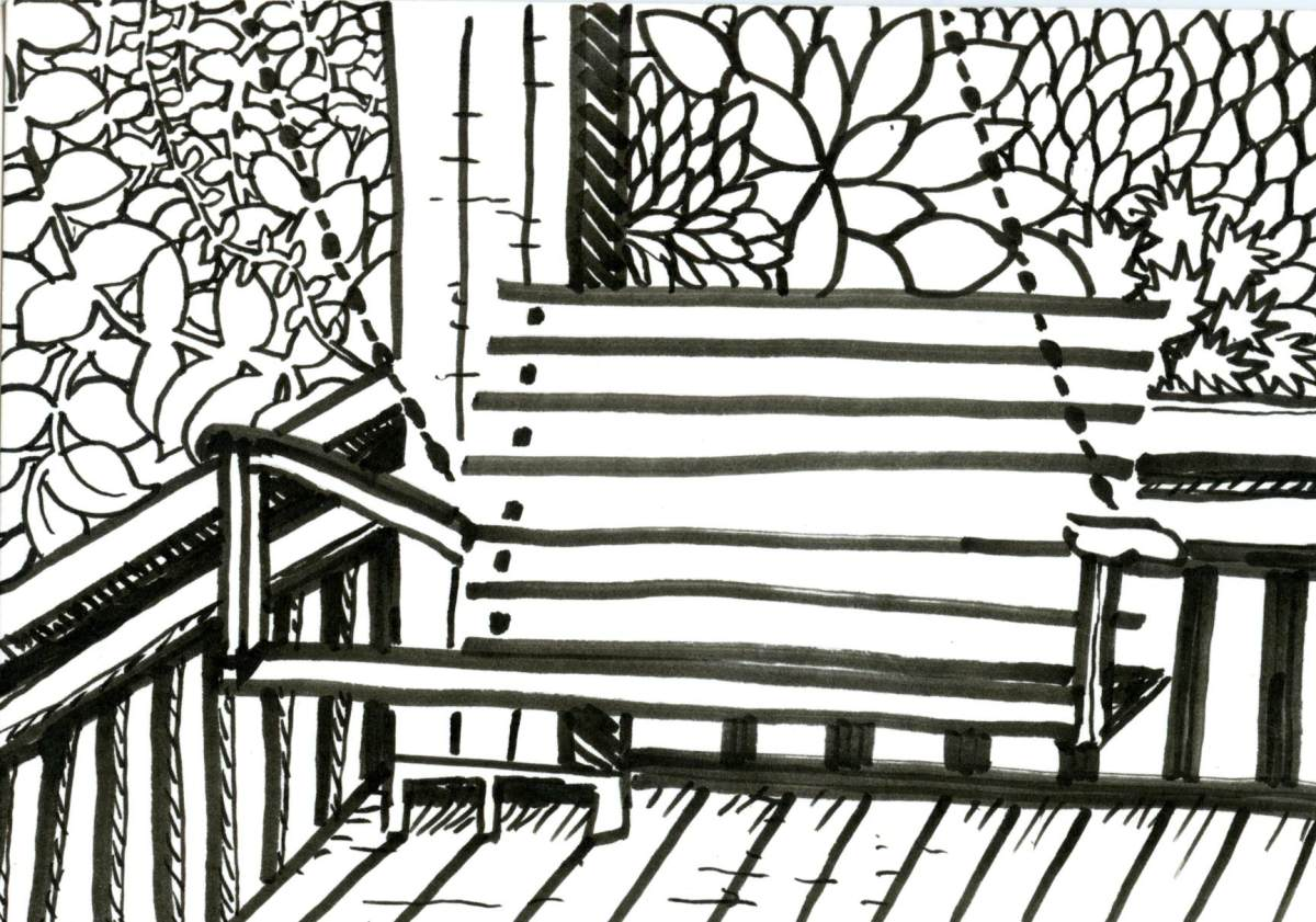 Porch Swing for Inktober
