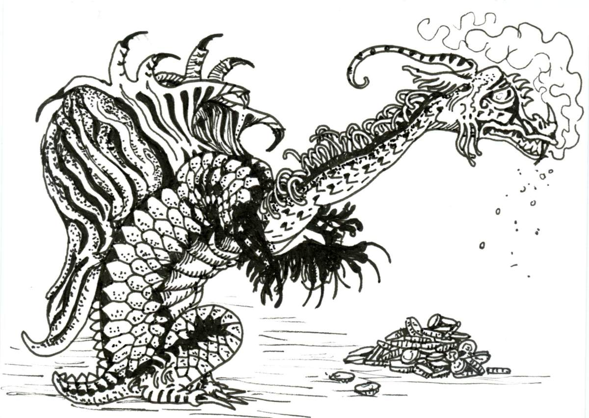Dragon Reptile for Inktober