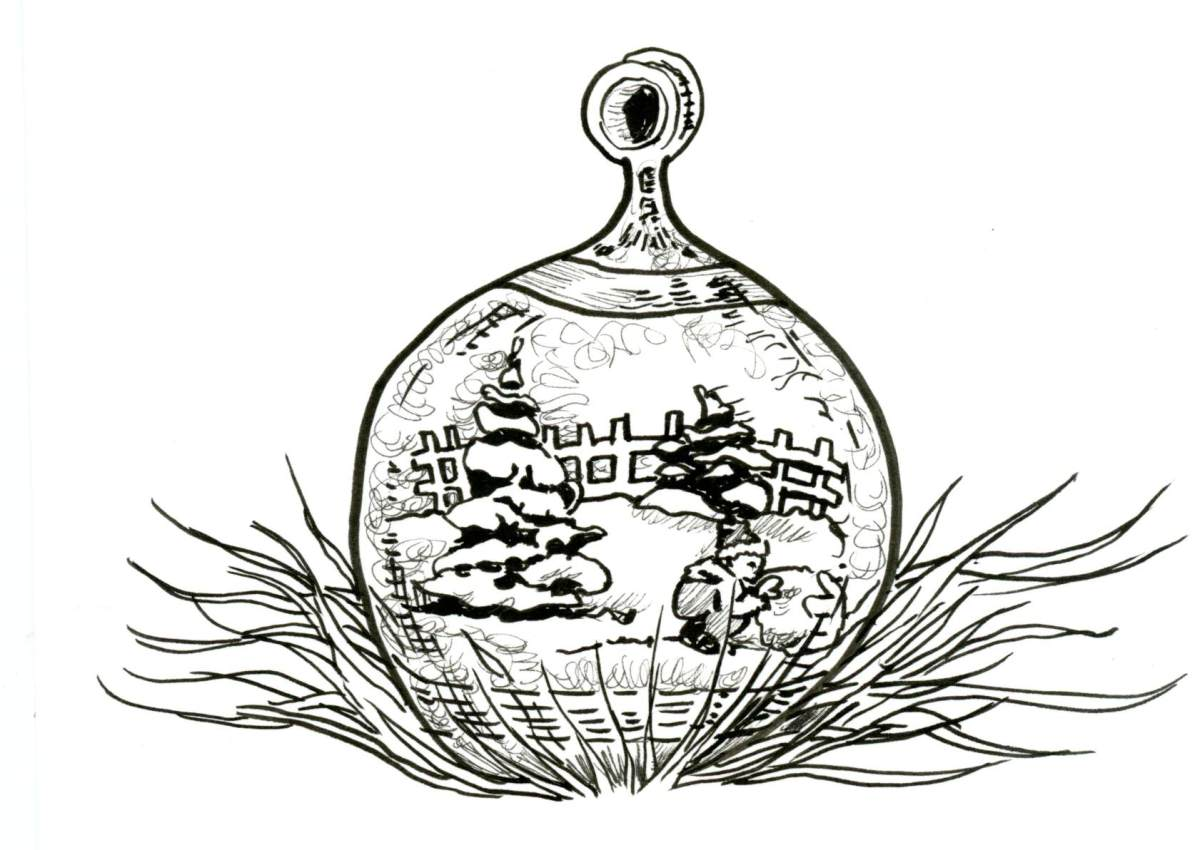 Glass Ornament for Inktober