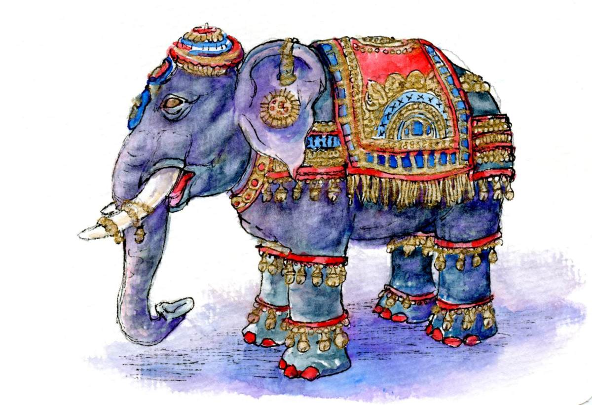 Ceremonial Elephant – Postcards for the Lunch Bag