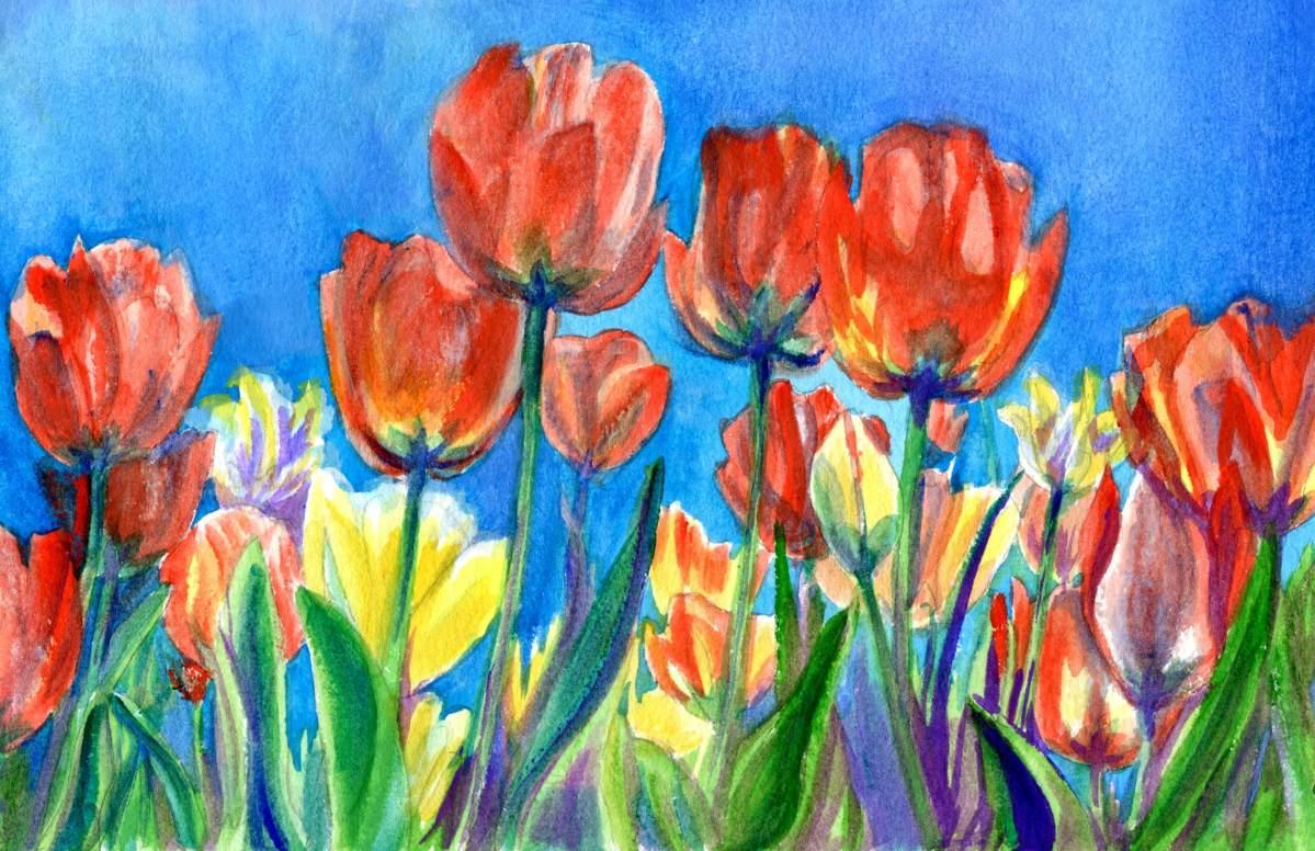 Gouache Tulips