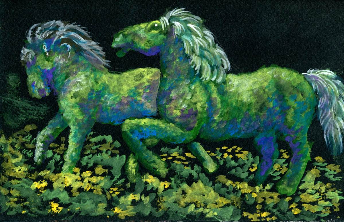 Topiary Horses – Discussing ColoredShadows