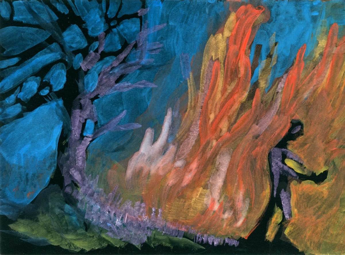 Forest Fire in Abstract