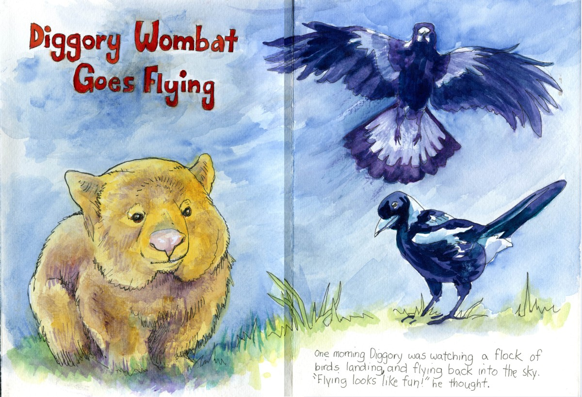 Diggory Wombat Goes Flying Part1