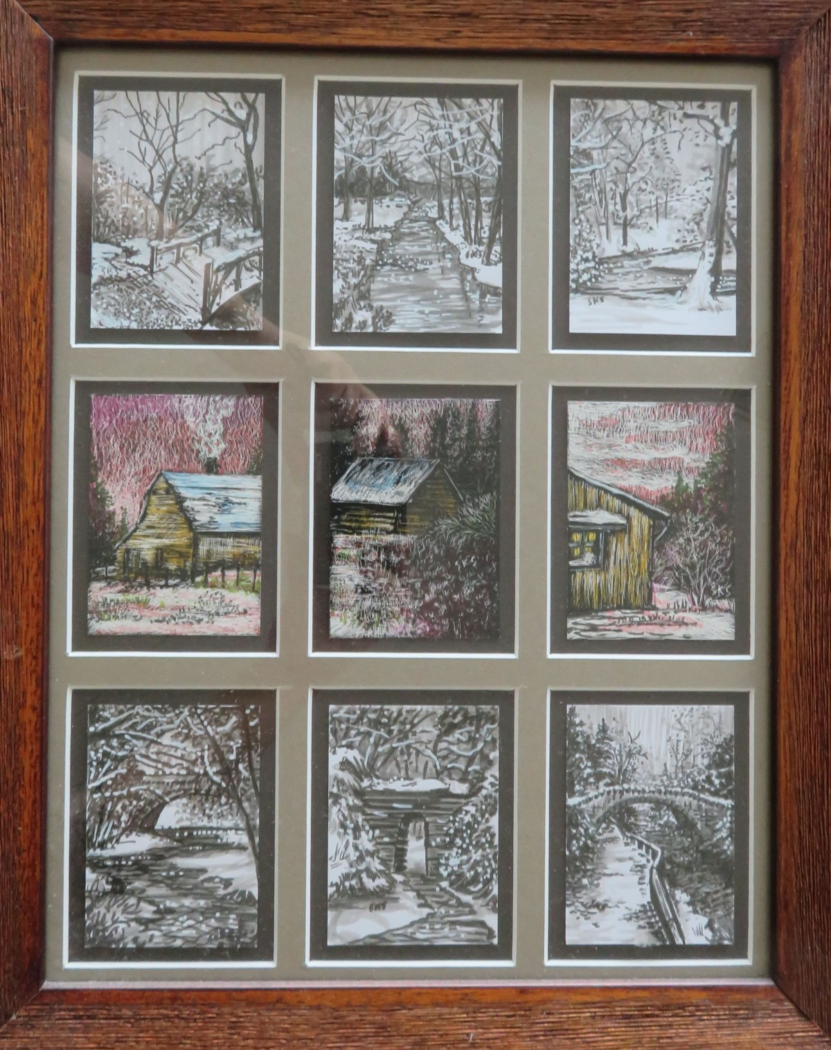 ATCs with Snow – Drawn and Gifted LongAgo