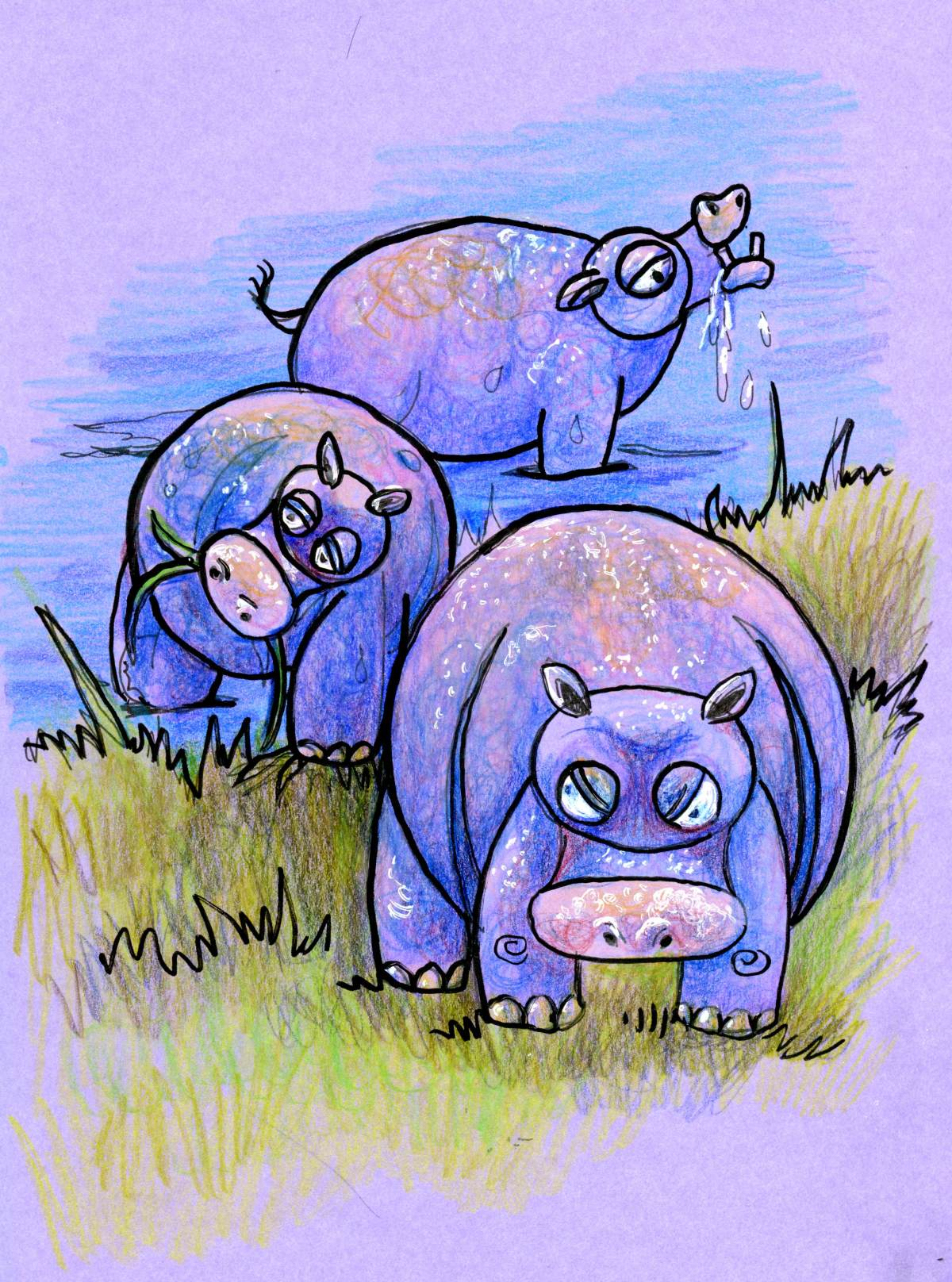 Tutorial-How to Draw a Fun Hippo