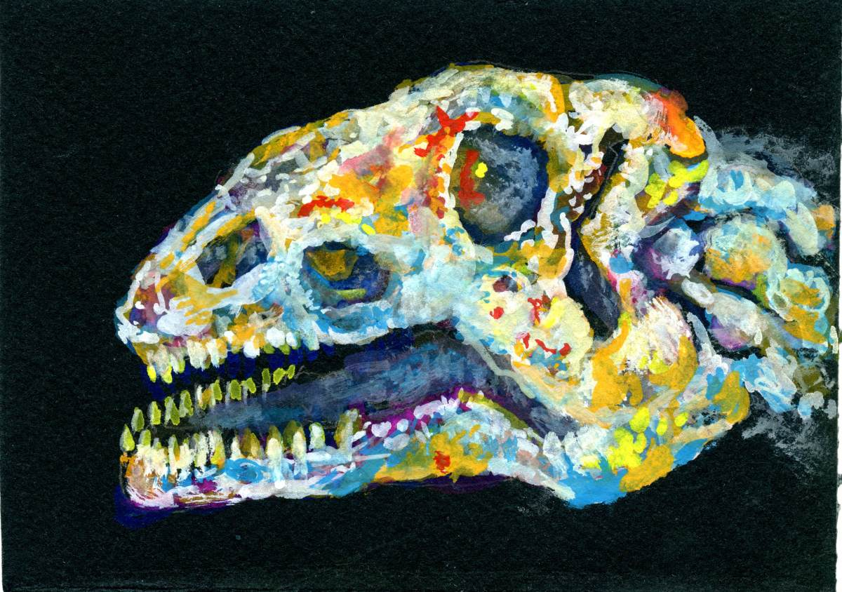 Opal Dinosaur – Postcards for the Lunch Bag
