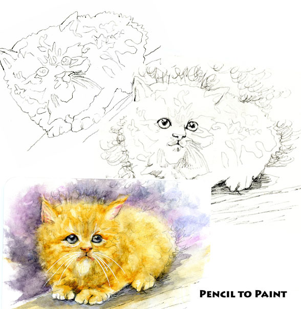 Kitten! – Pencil to Paint Tutorial