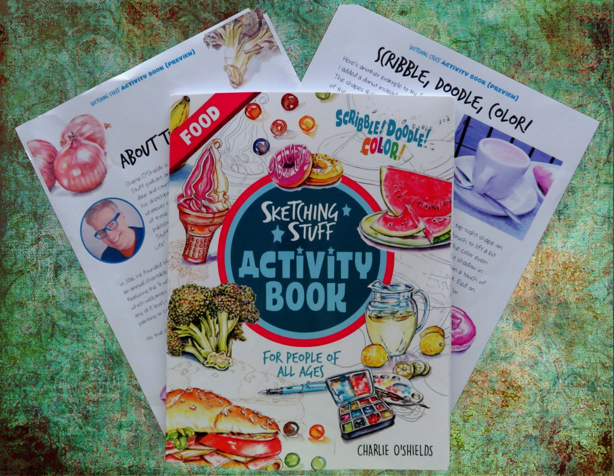 REVIEW – Sketching Stuff Activity Book:Food