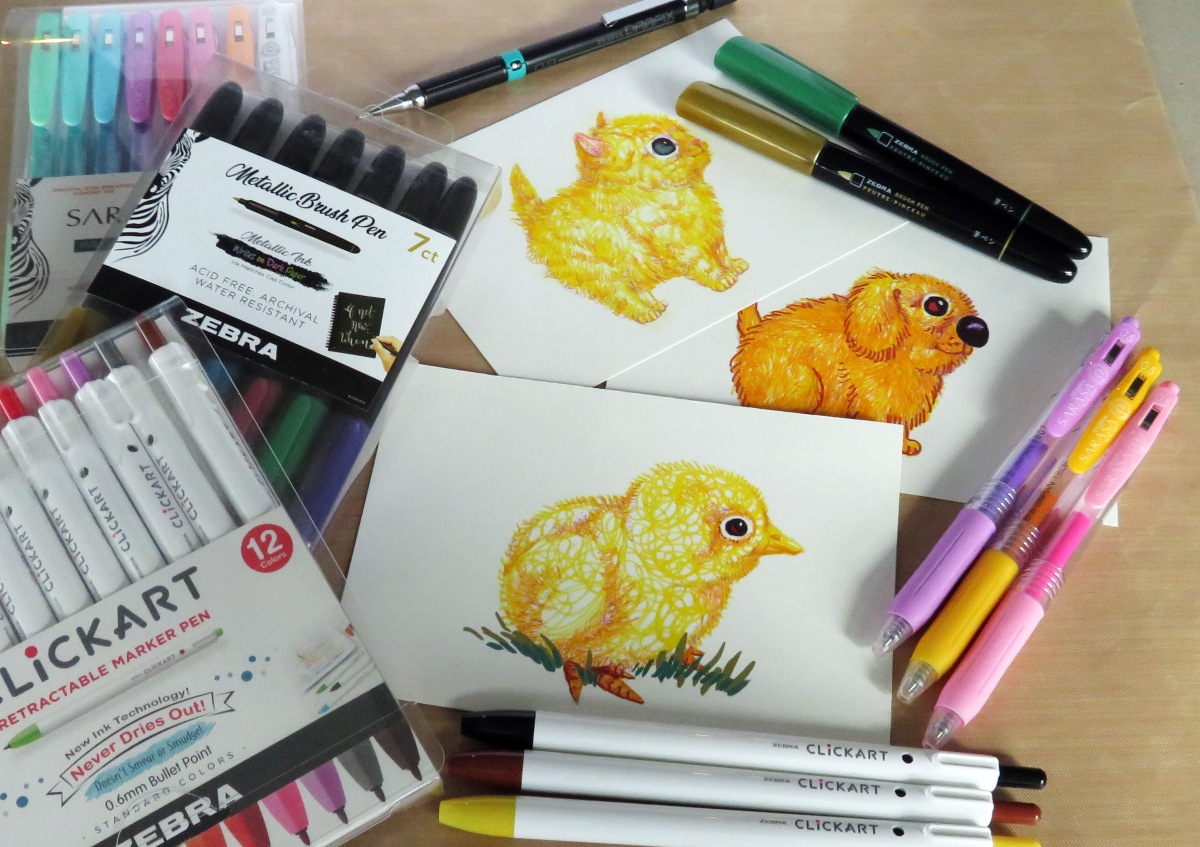 TUTORIAL: How to Draw a Chick with Zebra Pens