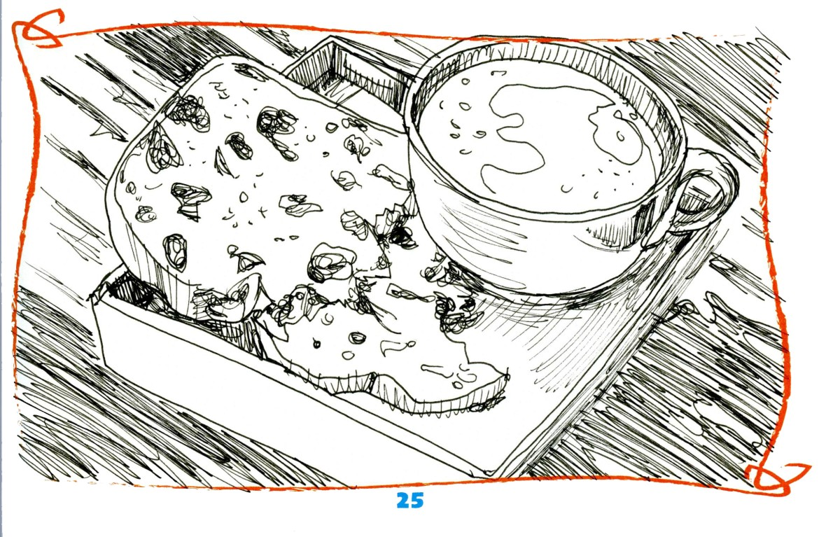 Teaser – Review of Sketching Stuff Activity Book: Food ComingTomorrow