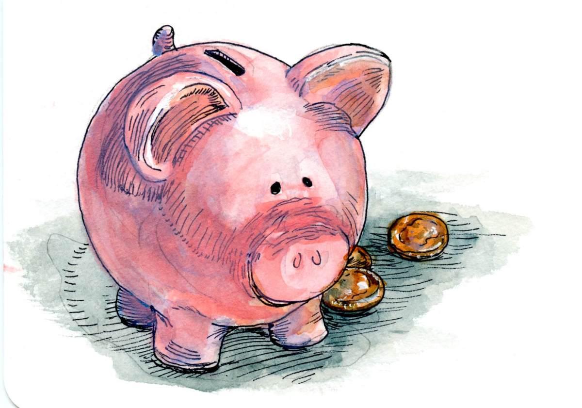 Piggy Bank – Postcards for the LunchBag