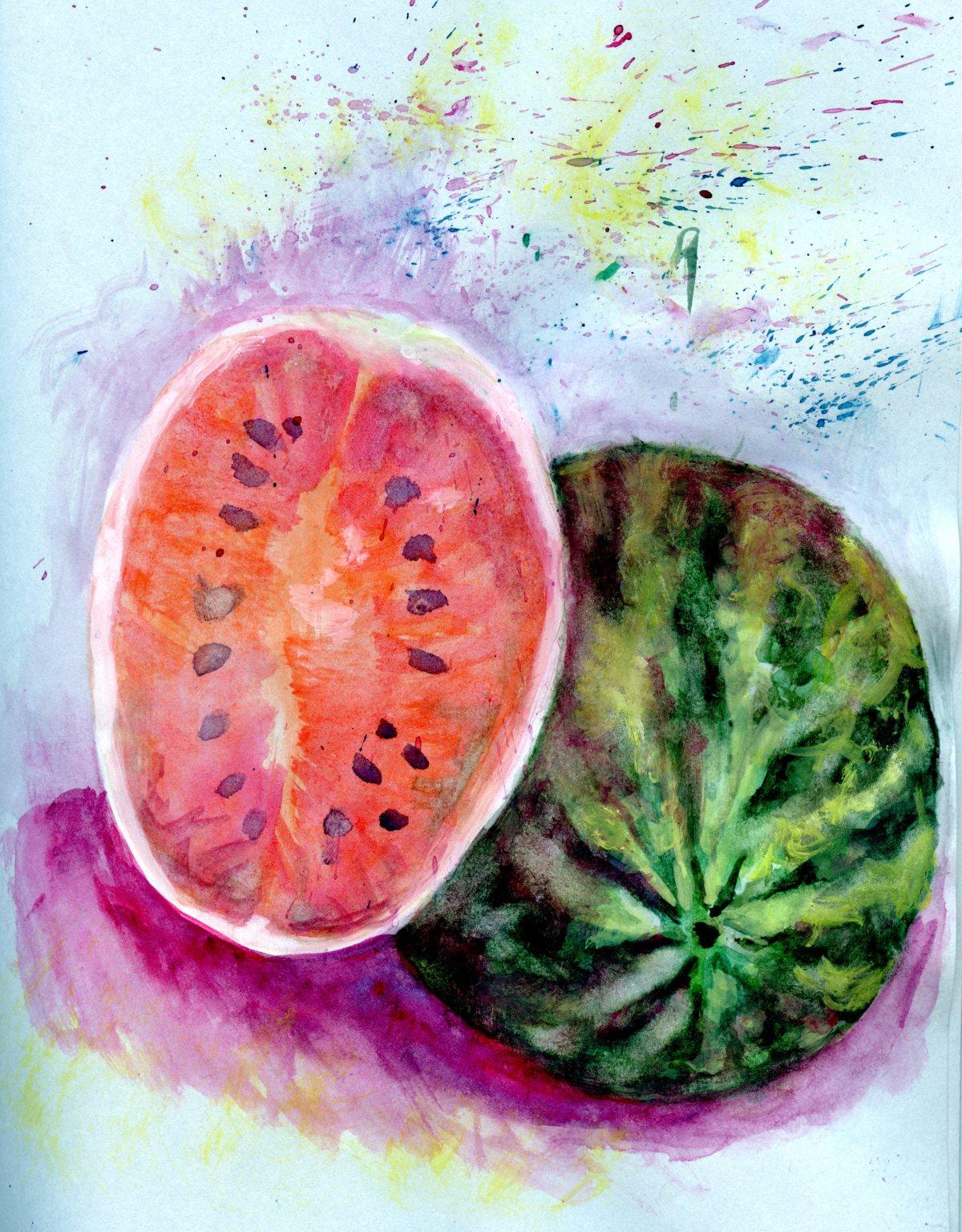 Watermelon on Seagreen