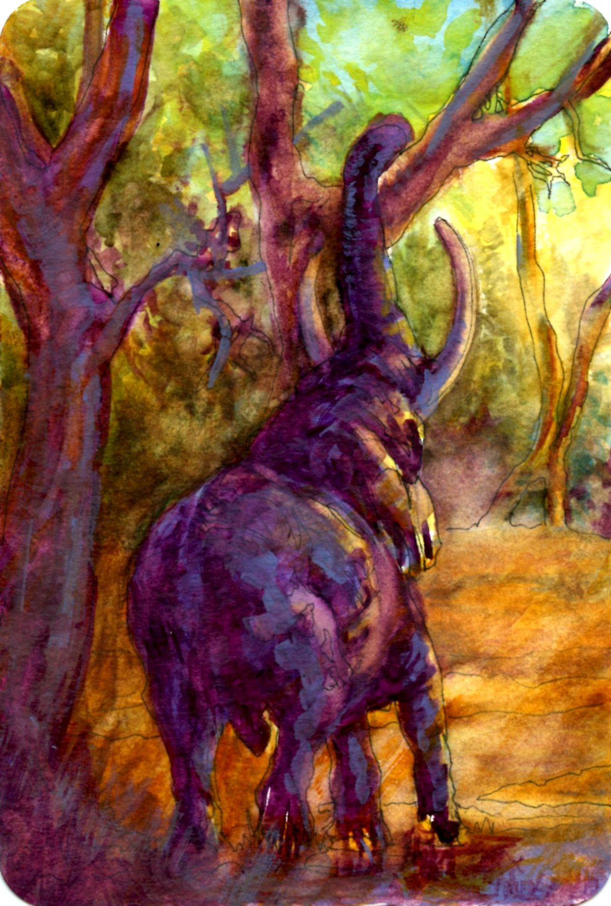 PassionforArt19's Elephant – Postcards for the Lunch Bag